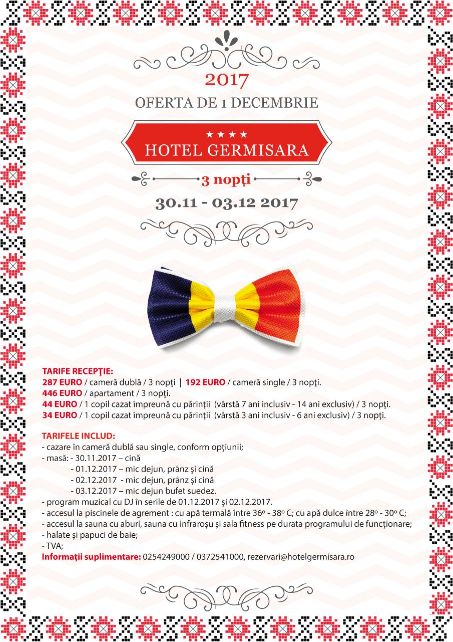 Hotel Germisara - Oferta de 1 Decembrie 2017